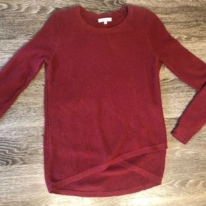 madewell sweater. dark red. size small